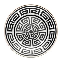 Labirinto Plate, 16cm, nero