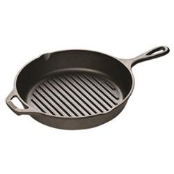 Lodge Round fat free frying pan, 26cm, black