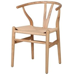 Wishbone chair, H77.5 x W56 x D54cm