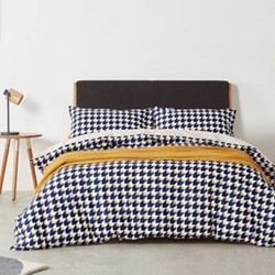 Mikka King size bed set, H225 x W220cm, mustard