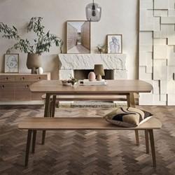 Crawford Dining table , H76 x  W180 x D90cm, Light Oak