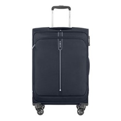 Popsoda Spinner expandable suitcase, 66 x 44 x 28/31cm, dark blue