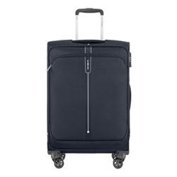 Popsoda Spinner expandable suitcase, 66 x 44 x 28/31cm, dark blue