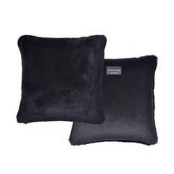 Sheepskin cushion, L40 x W40cm, black