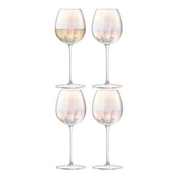 Pearl Set of 4 white wine glasses