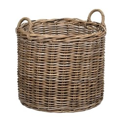 Somerton Medium log basket, D54 x H53cm, walnut