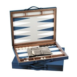 Bond Backgammon set, 70 x 44cm, petrol blue