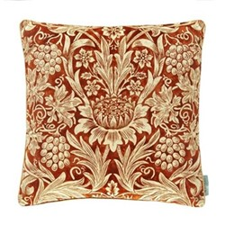 Sunflower Velvet Cushion, W50 x L50cm, red