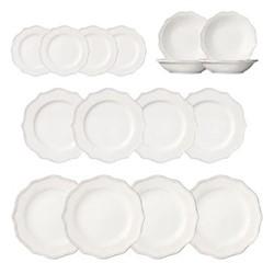 Sorano 16 piece dinner set, white
