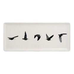Chambord Oblong serving tray, W15.5 x L36cm, white/black
