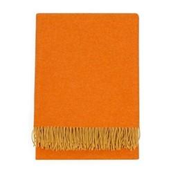 Two Tone Merino Throw , H150 x W180cm, Orange