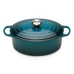 Signature Cast Iron Oval casserole, 29cm - 4.7L, deep teal