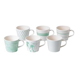 Pacific - Assorted Set of 6 mugs, 390ml, mint