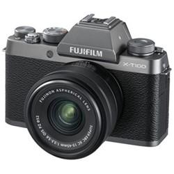 X-T100 Mirrorless camera with 15-45 mm f/3.5-5.6, 24.2MP, dark silver
