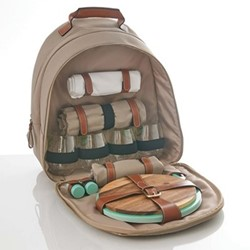 Canvas Picnic backpack, W30 x D10 x H40cm