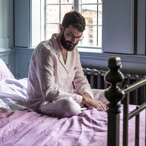 Pyjama trouser set - medium, blush pink