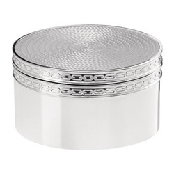 Vera Wang - With Love Nouveau Treasure box, 4.3 x 8 x 8cm, silver plate