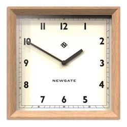 Old Joe Wall clock, 40 x 40 x 7cm, solid wood/light oak