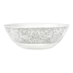 Pure Morris - Strawberry Thief Serving bowl, 26.7cm, grey/white