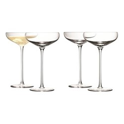 Wine Set of 4 champagne saucers, 300ml, clear