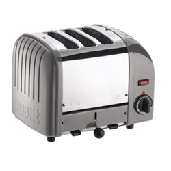 Classic Vario 3 slot toaster, metallic silver