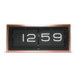 Brick Wall or desk clock, L36 x W12.8 x H15.7cm, copper