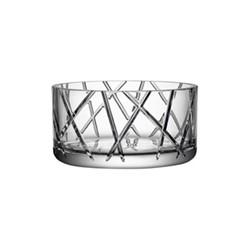 Explicit Stripe bowl, H11 x W22.3cm, glass