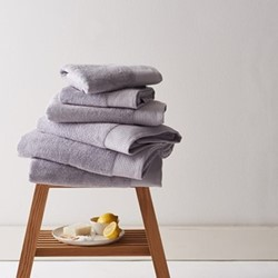 Barnes Set of 6 towels, pearl grey