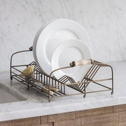 Brompton Dish rack, H17.50 x W46.50 x D30cm, antique brass finish