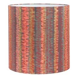 Textured Stripe Lampshade, 36 x 36cm, paprika/storm