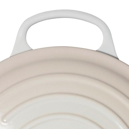 Signature Cast Iron Round casserole, 24cm - 4.2 litre, meringue