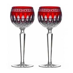 Clarendon Pair of hock glasses, ruby