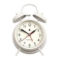 The New Covent Garden Alarm clock, H17 x W11.7 x D5.5cm, linen white