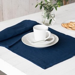 Porto Pair of place mats, 37 x 47cm, navy
