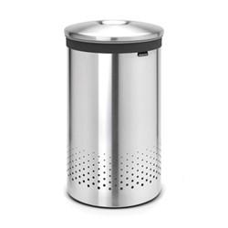 Laundry bin, 60 litre, matt steel