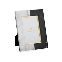 """Canaan Photograph frame, 4 x 6"""", Black/White Marble"""
