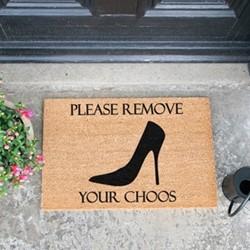 Remove Your Choos Doormat, L60 x W40 x H1.5cm