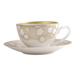 Reve Teacup and Saucer, 13cl, gold