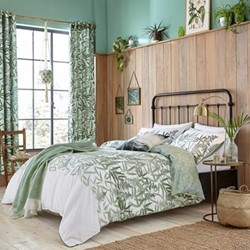 Costa Rica Fern Super king duvet cover set, green