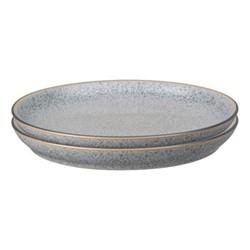 Studio Grey Set of 4 coupe dinner plates, 26cm, granite