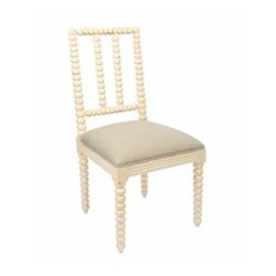 Bobble Dining chair, 48 x 50 x 96cm, white edge