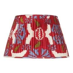 Ikat Silk lampshade, H20 x Dia30cm, Red