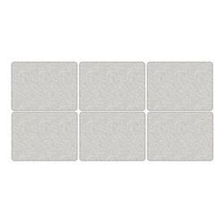 Pure Morris - Willow Bough Set of 6 placemats, 30.5 x 23cm, grey/white