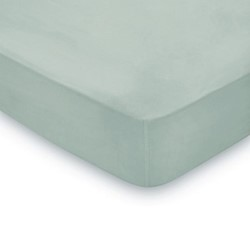300TC Plain Dye Super king size fitted sheet, L200 x W180 x H36cm, seaglass