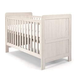 Atlas 3 in 1 Convertible cot & toddler bed, H96 x W78 x L144cm, nimbus white