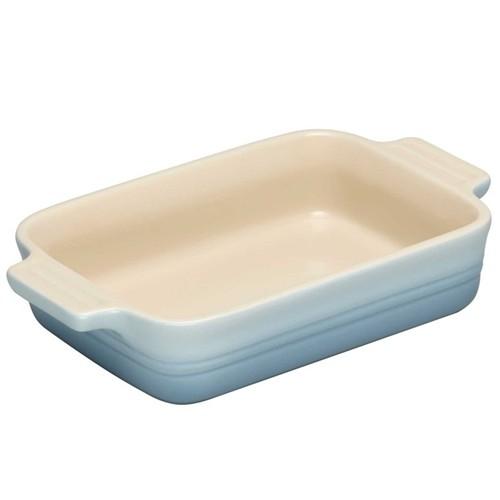 Stoneware Rectangular dish, 19 x 14cm - 1 litre, coastal blue