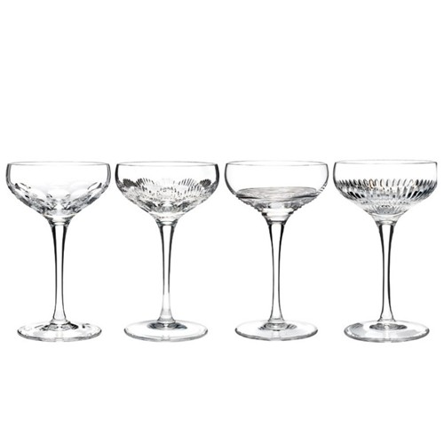 Mixology Set of 4 champagne coupes, Clear