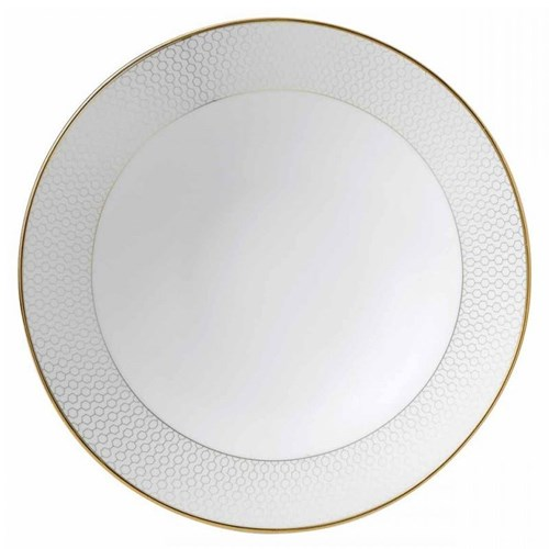Arris Soup/cereal bowl, 21cm, white with gold band