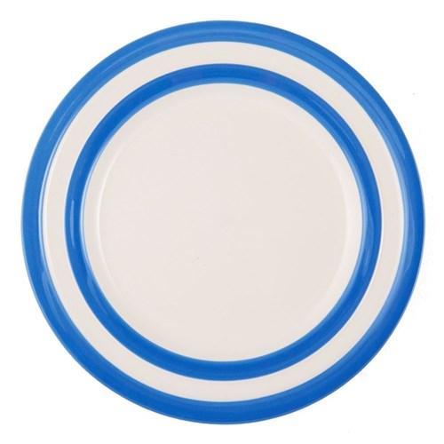 Set of 4 lunch plates, 25.4cm, blue