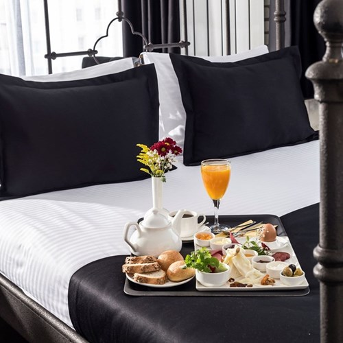 Honeymoon breakfast in bed for two